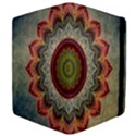 Folk Art Lotus Mandala Dirty Blue Red Apple iPad Mini Flip Case View4