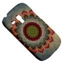 Folk Art Lotus Mandala Dirty Blue Red Samsung Galaxy S3 MINI I8190 Hardshell Case View5