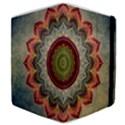 Folk Art Lotus Mandala Dirty Blue Red Samsung Galaxy Tab 8.9  P7300 Flip Case View4