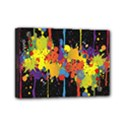 Crazy Multicolored Double Running Splashes Horizon Mini Canvas 7  x 5  View1