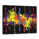 Crazy Multicolored Double Running Splashes Horizon Canvas 20  x 16  View1
