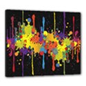 Crazy Multicolored Double Running Splashes Horizon Canvas 24  x 20  View1