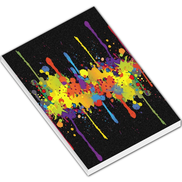 Crazy Multicolored Double Running Splashes Horizon Large Memo Pads
