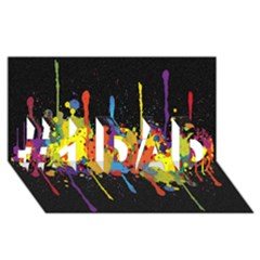 Crazy Multicolored Double Running Splashes Horizon #1 Dad 3d Greeting Card (8x4)