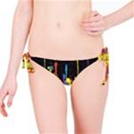 Crazy Multicolored Double Running Splashes Horizon Bikini Bottom