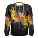 Crazy Multicolored Double Running Splashes Horizon Men s Long Sleeve Tee View1