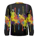Crazy Multicolored Double Running Splashes Horizon Men s Long Sleeve Tee View2