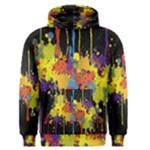 Crazy Multicolored Double Running Splashes Horizon Men s Pullover Hoodie