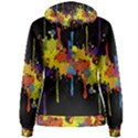 Crazy Multicolored Double Running Splashes Horizon Women s Pullover Hoodie View2