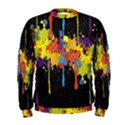 Crazy Multicolored Double Running Splashes Horizon Men s Sweatshirt View1