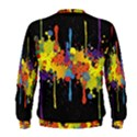 Crazy Multicolored Double Running Splashes Horizon Men s Sweatshirt View2