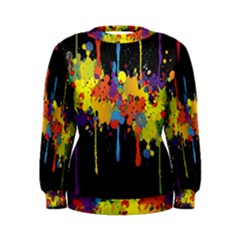 Crazy Multicolored Double Running Splashes Horizon Women s Sweatshirt