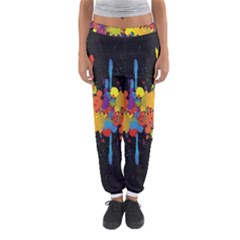 Crazy Multicolored Double Running Splashes Horizon Women s Jogger Sweatpants by EDDArt