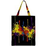 Crazy Multicolored Double Running Splashes Horizon Zipper Classic Tote Bag