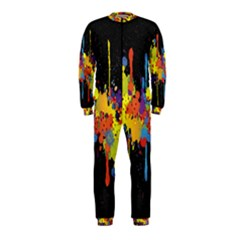 Crazy Multicolored Double Running Splashes Horizon Onepiece Jumpsuit (kids)