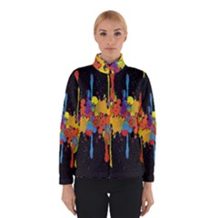 Crazy Multicolored Double Running Splashes Horizon Winterwear