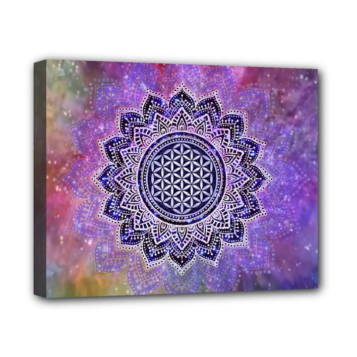 Flower Of Life Indian Ornaments Mandala Universe Canvas 10  x 8