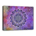 Flower Of Life Indian Ornaments Mandala Universe Canvas 16  x 12  View1