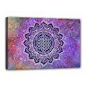 Flower Of Life Indian Ornaments Mandala Universe Canvas 18  x 12  View1