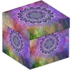 Flower Of Life Indian Ornaments Mandala Universe Storage Stool 12