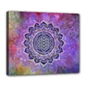 Flower Of Life Indian Ornaments Mandala Universe Deluxe Canvas 24  x 20   View1