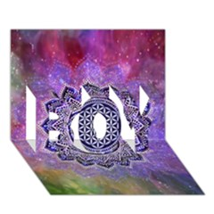 Flower Of Life Indian Ornaments Mandala Universe Boy 3d Greeting Card (7x5)