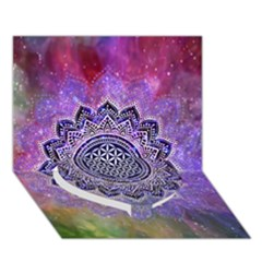 Flower Of Life Indian Ornaments Mandala Universe Heart Bottom 3d Greeting Card (7x5) by EDDArt