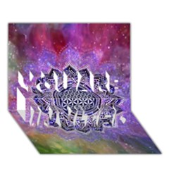 Flower Of Life Indian Ornaments Mandala Universe You Are Invited 3d Greeting Card (7x5) by EDDArt