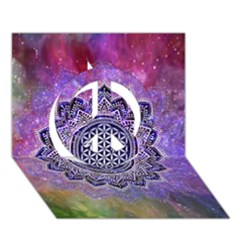 Flower Of Life Indian Ornaments Mandala Universe Peace Sign 3d Greeting Card (7x5) by EDDArt