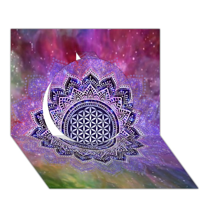 Flower Of Life Indian Ornaments Mandala Universe Circle 3D Greeting Card (7x5)