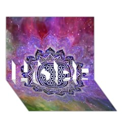 Flower Of Life Indian Ornaments Mandala Universe Hope 3d Greeting Card (7x5) by EDDArt
