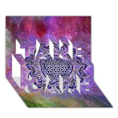 Flower Of Life Indian Ornaments Mandala Universe Take Care 3d Greeting Card (7x5)