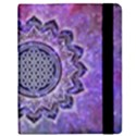 Flower Of Life Indian Ornaments Mandala Universe Samsung Galaxy Tab 8.9  P7300 Flip Case View2