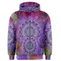 Flower Of Life Indian Ornaments Mandala Universe Men s Zipper Hoodie View1