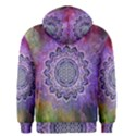 Flower Of Life Indian Ornaments Mandala Universe Men s Zipper Hoodie View2