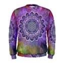 Flower Of Life Indian Ornaments Mandala Universe Men s Sweatshirt View1