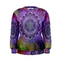 Flower Of Life Indian Ornaments Mandala Universe Women s Sweatshirt View1