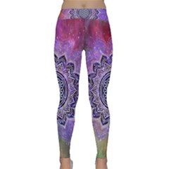 Flower Of Life Indian Ornaments Mandala Universe Yoga Leggings