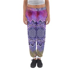 Flower Of Life Indian Ornaments Mandala Universe Women s Jogger Sweatpants