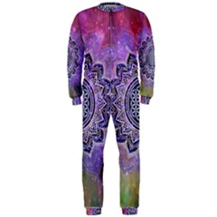 Flower Of Life Indian Ornaments Mandala Universe Onepiece Jumpsuit (men)