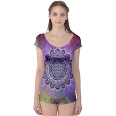 Flower Of Life Indian Ornaments Mandala Universe Boyleg Leotard