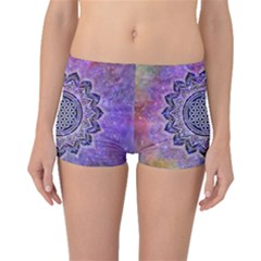 Flower Of Life Indian Ornaments Mandala Universe Boyleg Bikini Bottoms