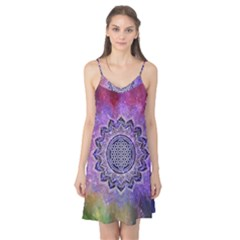 Flower Of Life Indian Ornaments Mandala Universe Camis Nightgown