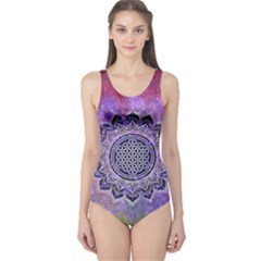 Flower Of Life Indian Ornaments Mandala Universe One Piece Swimsuit