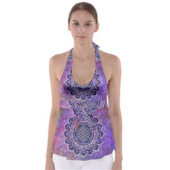 Flower Of Life Indian Ornaments Mandala Universe Babydoll Tankini Top