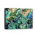 Fractal Batik Art Teal Turquoise Salmon Mini Canvas 7  x 5  View1
