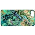 Fractal Batik Art Teal Turquoise Salmon Apple iPhone 5 Classic Hardshell Case View1