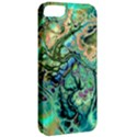 Fractal Batik Art Teal Turquoise Salmon Apple iPhone 5 Classic Hardshell Case View2