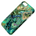 Fractal Batik Art Teal Turquoise Salmon Apple iPhone 5 Classic Hardshell Case View4
