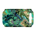 Fractal Batik Art Teal Turquoise Salmon Samsung Galaxy S III Hardshell Case (PC+Silicone) View1